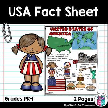 USA Fact Sheet - United States of America Fact Sheet