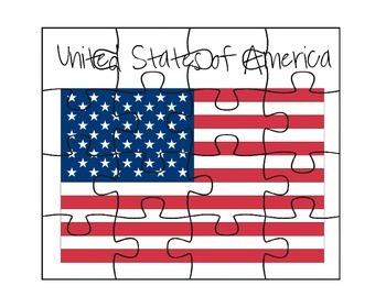 USA Flag Puzzles