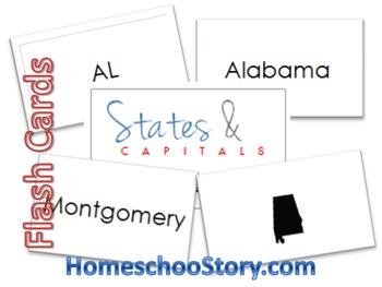 USA FlashCards - Names, Capitals, Abbreviations, Shapes