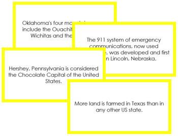 USA Fun Facts (color borders)