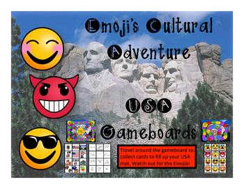 USA Game - Emoji's Cultural Adventure Gameboard
