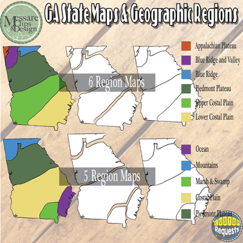 Usa Georgia Maps And Geographic Regions Set