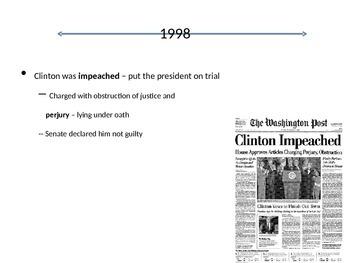USA HIstory 1995-2001