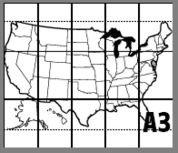 USA HUGE MAP POSTER (United States) 2 Poster Sizes