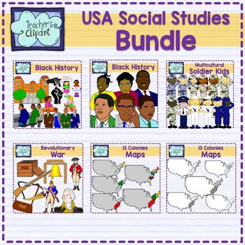 USA Clip art Bundle (Social Studies)