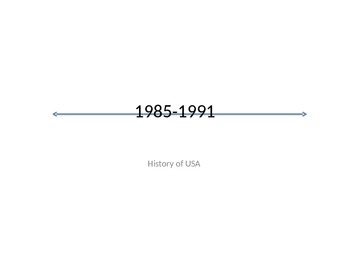 USA History 1985-1991