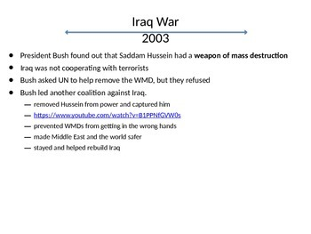 USA History 2001-2008