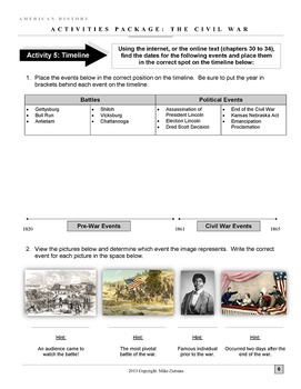 Civil War Package: 30+ Pages/Slides, 10 Engaging Activities of Deep Learning