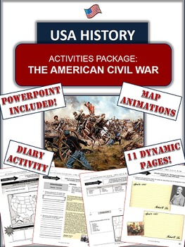 Civil War Package: 30+ Pages/Slides, 10 Engaging Activitie