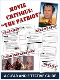 """Patriot"" Movie Critique - 7 Page Step-by-Step Guide"