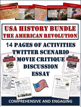 American Revolution Unit Bundle: 65+ Page/Slides of Activities and Resources!