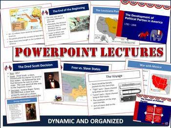 Westward Expansion and Antebellum Period PPT Lecture Bundle (1800 to 1865)