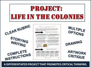 Thirteen Original Colonies Differentiated Project: 4 Fun Options for Students!