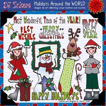 USA: Holidays Around the World Clip Art
