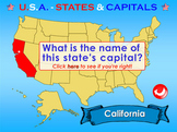 U.S.A. - Interactive States & Capitals - PowerPoint Presentation