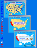 U.S.A. - Interactive States & Capitals w/Matching  - SMARTBOARD FILE