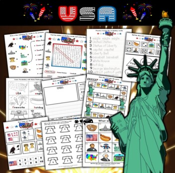 USA / July 4th Activity Set