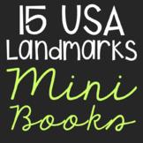USA Landmark Mini Book Research Templates, Interactive Notebook