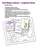 USA Latitude Longitude Solitaire or Small Group Game