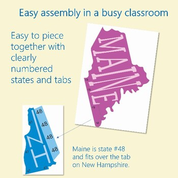USA Make a Map!      United States Interactive Bulletin Board Geography Activity