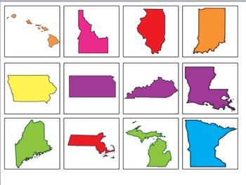 USA Map Memory Pack