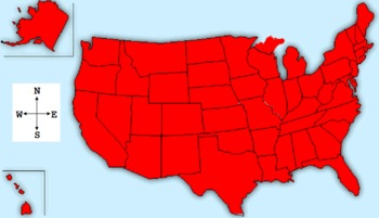USA Map with NESW