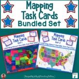 Mapping Task Cards USA     Bundle