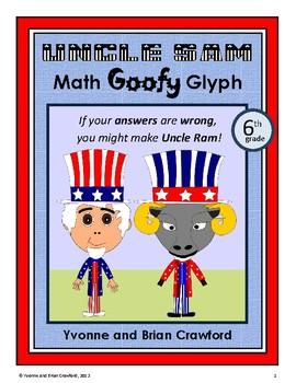 USA Math Goofy Glyph (6th Grade Common Core)