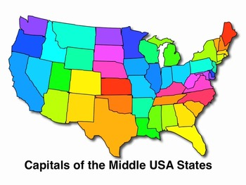 USA Middle States and Capitals Song MP4 Video - Audio Memory Kathy Troxel