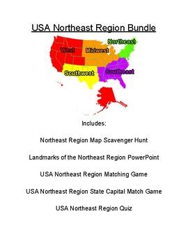USA Northeast Region Bundle By Mr Matthews Teacher Store TpT - Us northeast region map