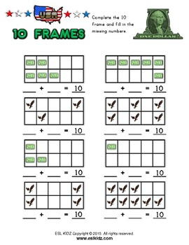 USA Numbers / Counting Activity Set