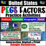 USA PEGS Factors Interactive, Digital Lesson for Google Classroom