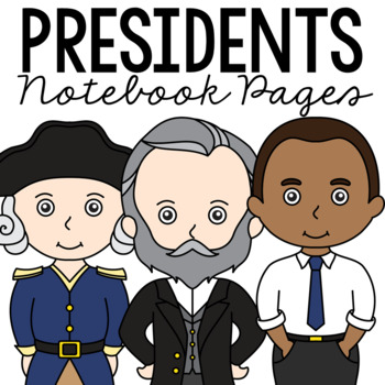 USA PRESIDENTS Notebook Research Pages, American Government Project