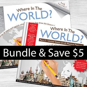 USA-Parts 1&2-BUNDLED SAVE $5 - Memorize USA+Physical Features Thru Drawing!