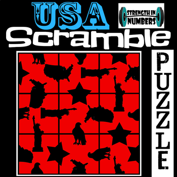 USA Patriotic 4th of July 3x3 SCRAMBLE Puzzle for Early Finishers