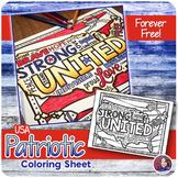 USA Patriotic Coloring Sheet {FREEBIE} #weholdthesetruths #kindnessnation