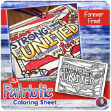 USA Patriotic Coloring Sheet - FREE #weholdthesetruths #kindnessnation
