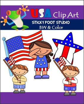 USA Patriotic Holiday Clip Art (Memorial Day, Fourth of Ju