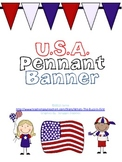 USA Pennant Banner {4th of July}