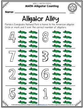 USA Preschool Homeschool - Week 1 Age 3-4 Complete Year Preschool Curriculum