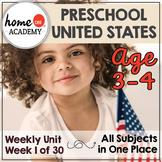 Preschool USA - Weekly Unit for Preschool, PreK or Homeschool Preschool