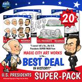 USA Presidents Day Mt Rushmore SUPER PACK Washington Jeffe
