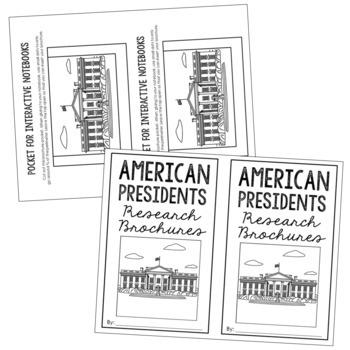 44 USA Presidents Research Brochure Templates, Mini Book, Interactive Notebook