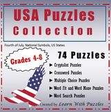 USA Puzzles Collection - 24 UNIQUE Puzzles About USA