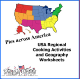 USA Regional Cooking Activities and Geography Worksheets