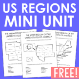 USA Regions Activity FREEBIE, States and Capitals Project, Geography, History