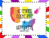 USA Regions Flashcards and Worksheets