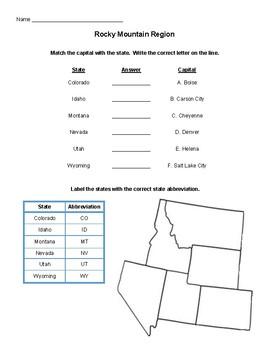 USA Rocky Mountain Region