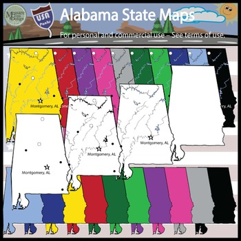 USA Sets - Alabama State Pack {Messare Clips and Design}