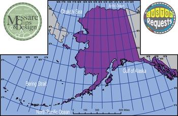 USA Sets - Alaska State Maps with Lat/Long Overlays {Messa